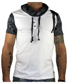 t-shirt homme bandana blanc