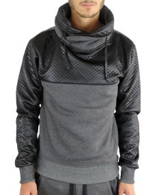 Sweat homme matelassé anthracite