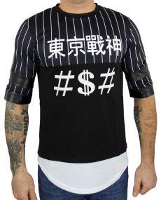 t-shirt homme oversize baseball noir
