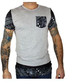 tee shirt oversize gris noir