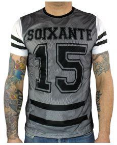 t-shirt imprimé chiffre blanc