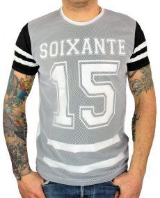 t-shirt imprimé chiffre noir