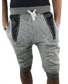 Bermuda sarouel homme gris