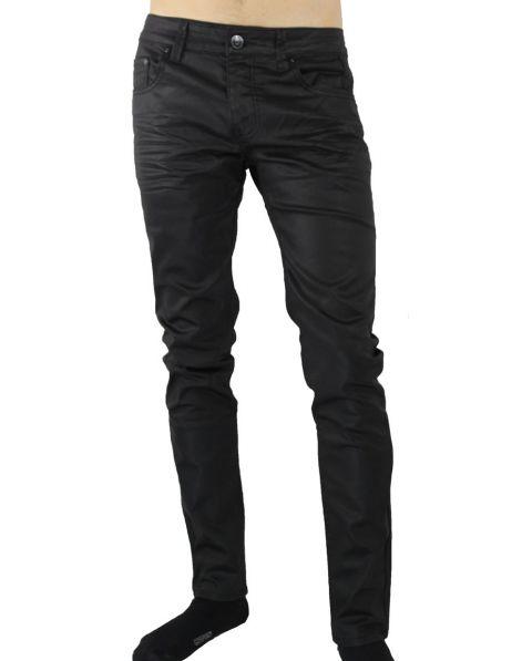 Jeans noir huilé