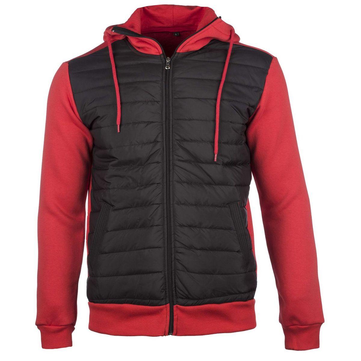 sweat rouge zippe homme