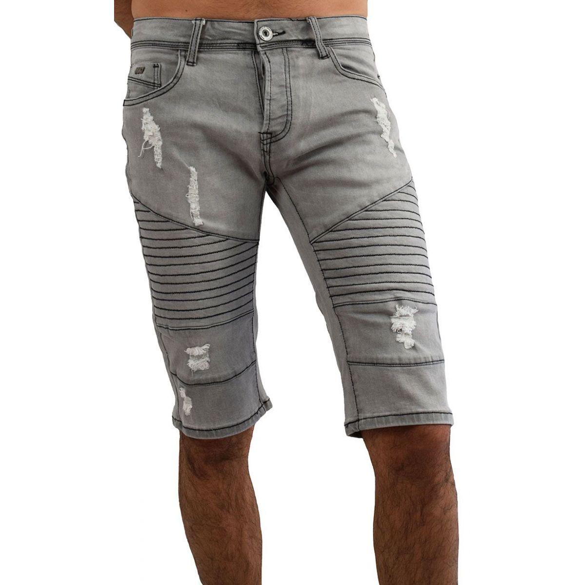 bermuda jean homme 35 short en jean gris fashion. Black Bedroom Furniture Sets. Home Design Ideas