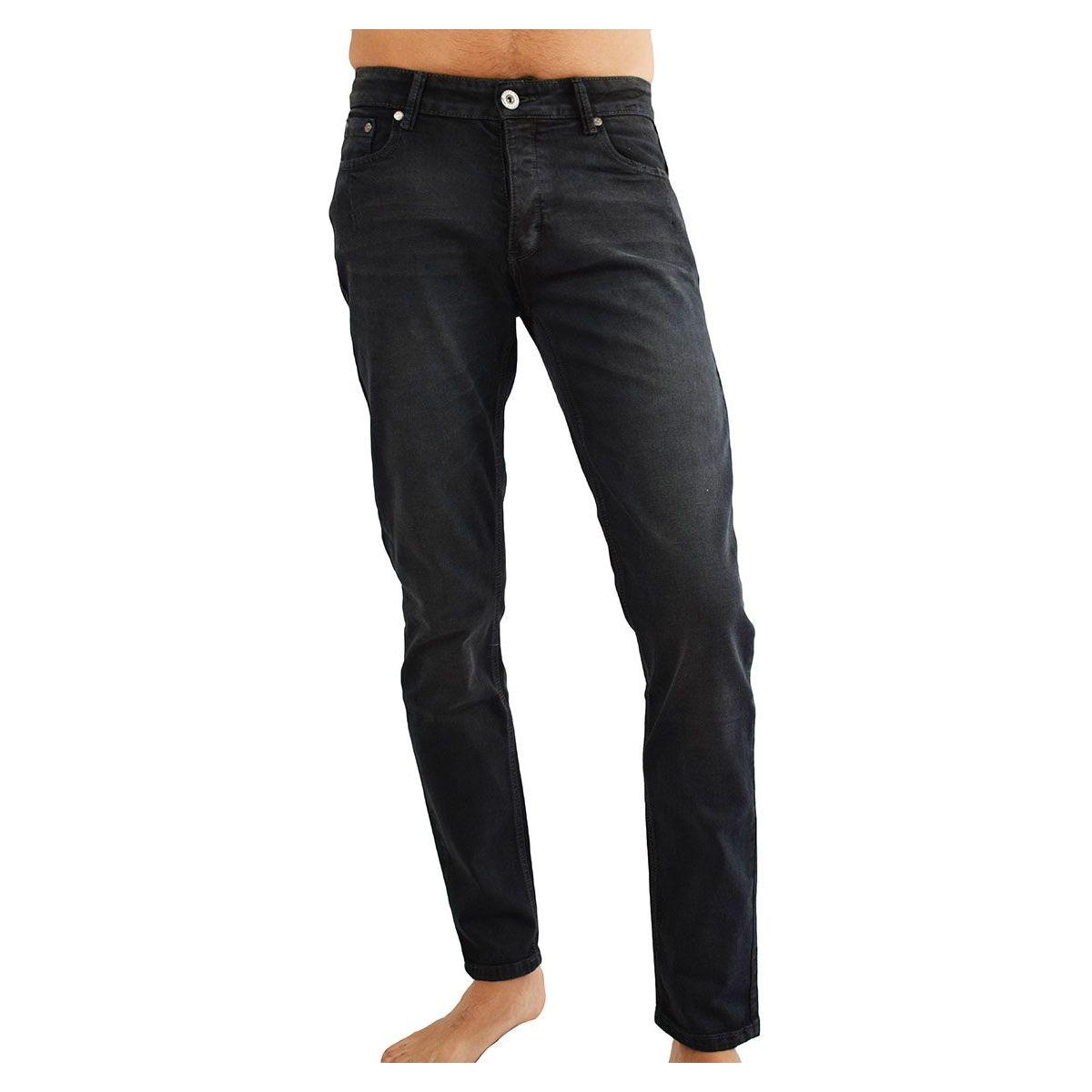 jeans homme fashion noir d lav nervur. Black Bedroom Furniture Sets. Home Design Ideas