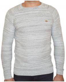 pull homme chiné blanc