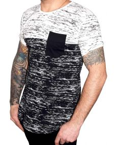 t-shirt homme oversize blanc noir