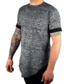t-shirt homme oversize chiné noir