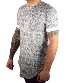 t-shirt homme oversize chiné gris