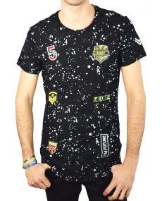 t-shirt homme déchiré oversize patch