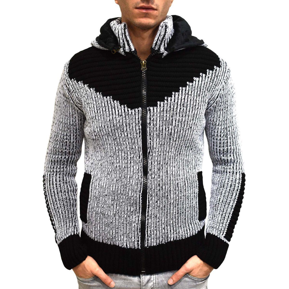 Gilet en laine homme avec capuche 1009 683e68ec7afd